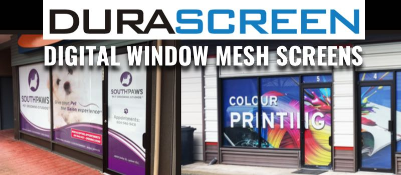 durascreen window signage